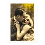 French Flirt - Romantic Vintage Postcard
