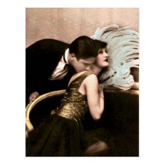 French Flirt - Vintage Romantic Postcard