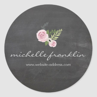 FRENCH FLORAL BOUQUET on CHALKBOARD Sticker