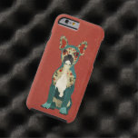 French Floral Bulldog Red iPhone 6 case Tough iPhone 6 Case