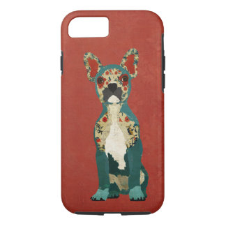 French Floral Bulldog Red iPhone 7 case