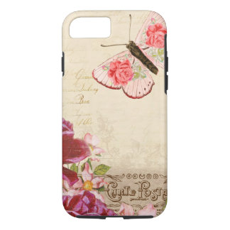 French Floral Carte Postale iPhone 7 Case