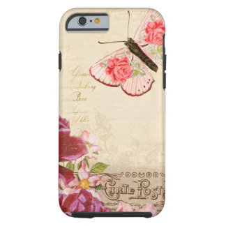 French Floral Carte Postale Tough iPhone 6 Case