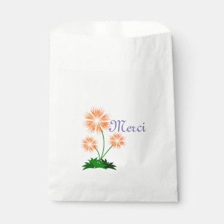 French Floral Favor Bags