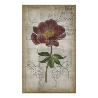French Floral I Poster
