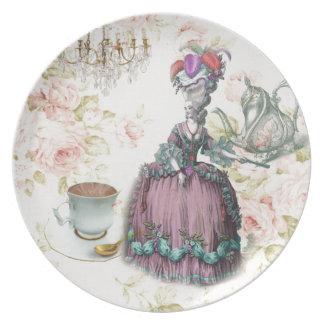 French floral Paris Tea Party Marie Antoinette Plate