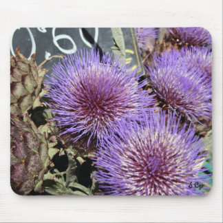 French Flower Market Purples Mouse Mat
