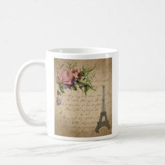 French flowers and Eiffel Tower Coffee Mug