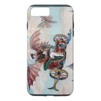 French flying machine - Victorian steampunk pilot iPhone 7 Plus Case