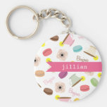 French Food Personalised Keychain