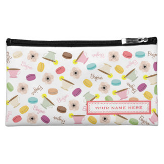 French Food Themed Personalized Cosmetics Bag Makeup Bags