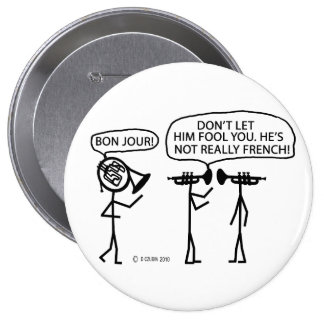 French French Horn Button