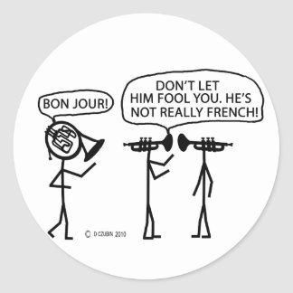 French French Horn Stickers
