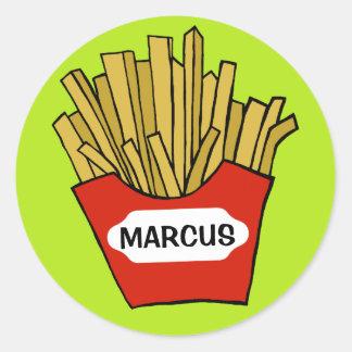 French fries custom sticker