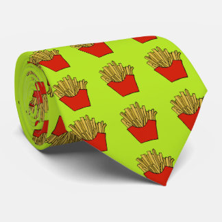 French fries design tie