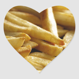 French Fries Heart Sticker