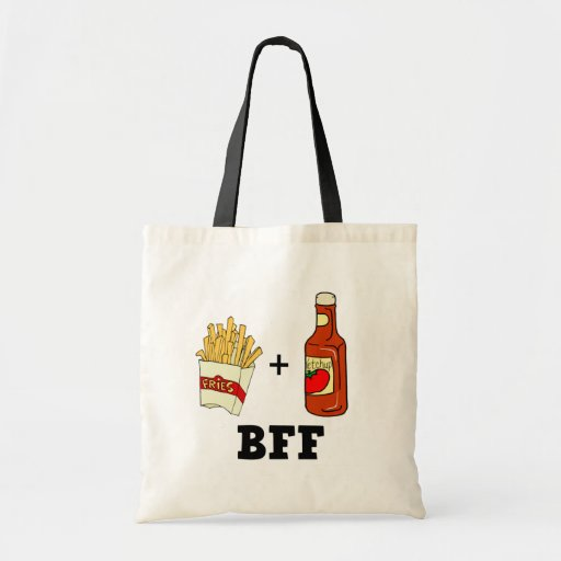 French fries & Ketchup BFF Tote Bags
