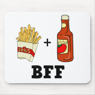 French fries & Ketchup BFF Mouse Mat
