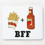 French fries & Ketchup BFF Mouse Pads