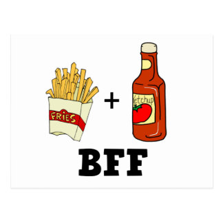 French fries & Ketchup BFF Post Cards