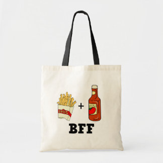 French fries Ketchup BFF Tote Bags