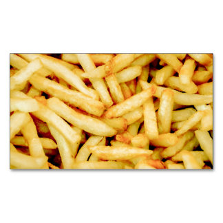 French Fries Magnetic Business Cards