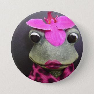 French frog button pin