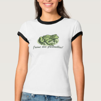 French Frog - I Love Frogs T-Shirt