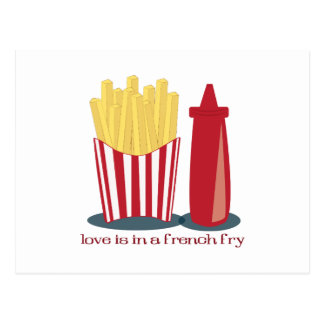 French Fry Love Postcard