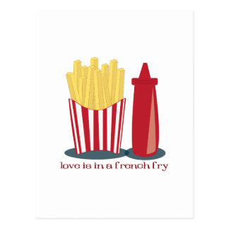 French Fry Love Post Card
