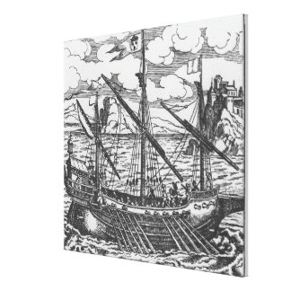 French galley canvas print