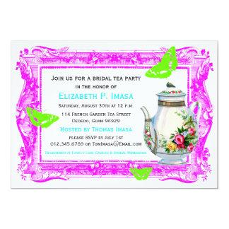 French Garden Bridal Tea Party 13 Cm X 18 Cm Invitation Card