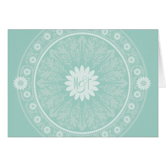 French Garden Monogrammed Thank You Notes