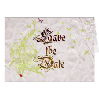 French Garden Save The Date 1 Card