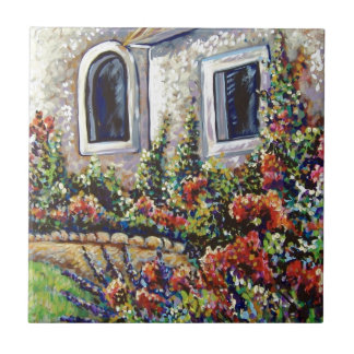 french garden small square tile