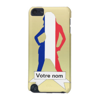 French girl on gold background iPod touch 5G cover