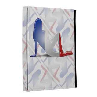 French Girl Silhouette Flag iPad Folio Cases