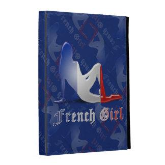 French Girl Silhouette Flag iPad Folio Case