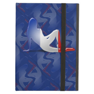 French Girl Silhouette Flag iPad Cases