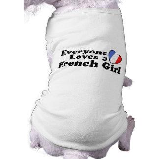 French Girl Sleeveless Dog Shirt