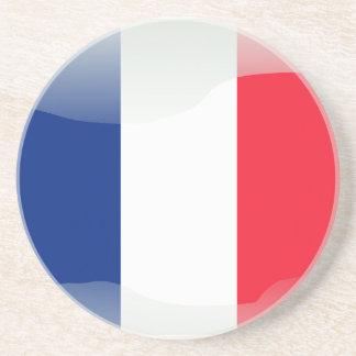 French glossy flag coaster
