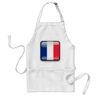 French glossy flag standard apron