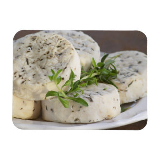 French goat cheese - chevre - with herbs on a flexible magnet