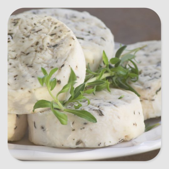 French goat cheese - chevre - with herbs