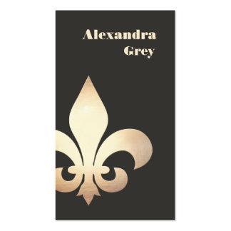 French Gold Leaf Fleur de Lis Business Card