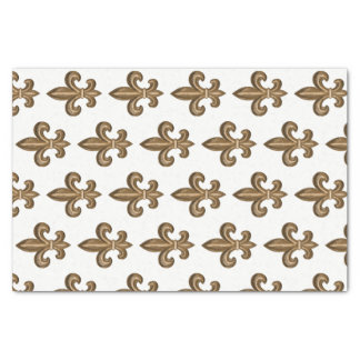 French Golden Fleur de Lis Crest Tissue Paper