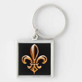French Golden Fleur de Lis Key Ring