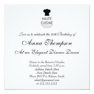 French Gourmet Haute Cuisine 13 Cm X 13 Cm Square Invitation Card