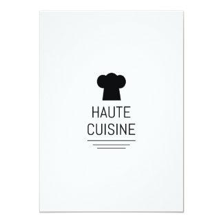 French Gourmet Haute Cuisine 13 Cm X 18 Cm Invitation Card