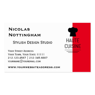 French Gourmet Haute Cuisine Pack Of Standard Business Cards